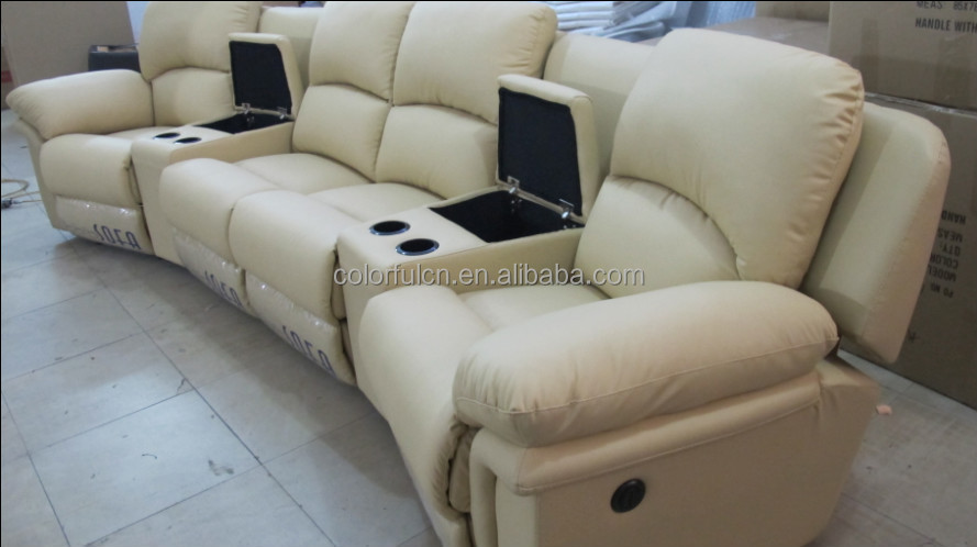 Italy genuine leather recline vip home cinema sofa theater for Canape home cinema