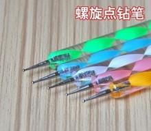 2way Nail Polish Art Dotting Marbleizing Pen Tools be used on Natural nails