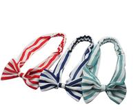 Wholesale women simple stripe chiffon elastic hair band DS913115