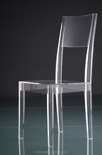 high transparent dining chair