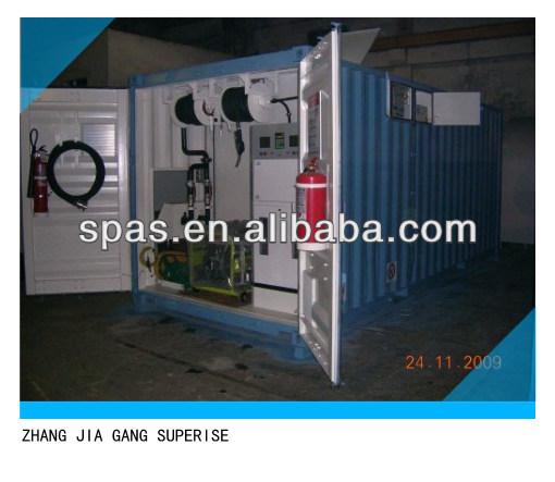 20,000-30,000 litros de combustible móvil estación de tanque de almacenamiento contenedor