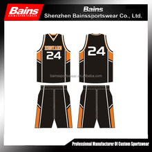 sublimation basketball uniform&basketball jersey set&custom basketball uniform design 2015