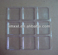 chocolate plastic clear tray for 9 pack