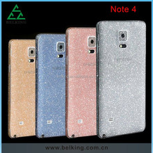 Bling bling cover skins for Galaxy Note4, For Note4 PET beautiful skins case cover