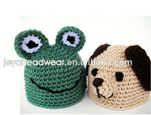 Soonest delivery Plain Knitted Animal Frog dog Baby Hat custom Knitted cap