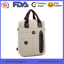 customized logo handbag and waxed canvas tote bag for men