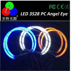 China manufactor SMD3528 led Angel Eyes for car headlght ring 80mm *2 with pc cover