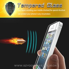 Perfet fit OEM high transparency tempered glass film screen protector for iphone5/5S