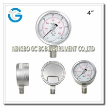 High quality all stainless steel oil-filled bourdon pressure gage