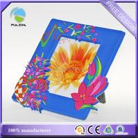 custom flowers souvenir rubber plastic window photo frame