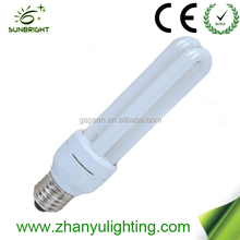 80% energy saving 2u cfl lamp light 110-220v with CE and ROHS