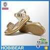 HOBIBEAR 2015 summer glitter children crystal jeweled sandals girl leather gold sandal