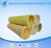Nonwoven Polyester filter bag(filter socks) used in Cement plant for dust collector