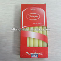 Paraffin wax and stearic acid material home decoration use taper candle
