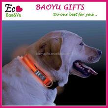 Factory price wholesale flashing LED Dog Collar Glowing In Dark Dog collar