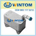vw skoda piezas del motor del enfriador de aceite de aluminio 06D 117 021C