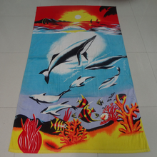 Wholesale Custom Made Cut Pile Activity Printing Microfiber Beach Towel