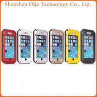 Aluminum Shockproof Gorilla Glass waterproof case for iphone5s, for iphone 5s waterproof case, for iphone 5 case waterproof