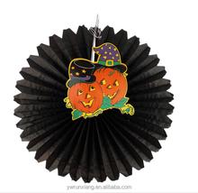 round fan paper holloween items,Wedding items ,paper fans