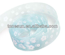 China Hot Lt. Blue Decoration Flower Bow Ribbon For Lovely Angle Girl Wholesale