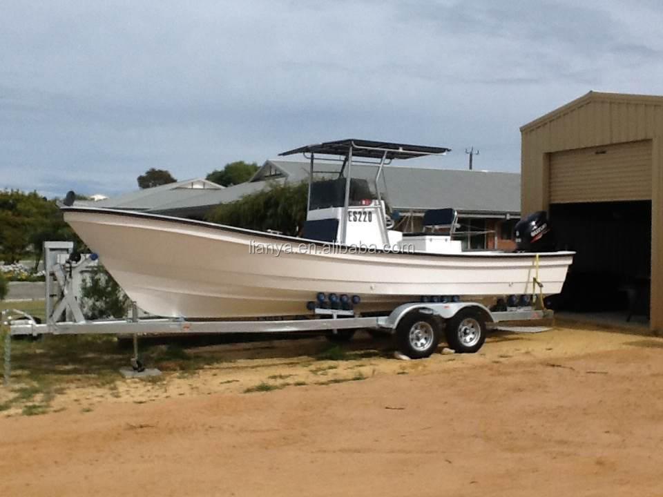 Liya 25ft small fishing boat fiberglass boat fiber boat for Small fishing boats for sale