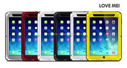 Love Mei Gorilla Glass Aluminum Waterproof Case For Ipad Mini,Phone Waterproof Gorilla Glass Case For Ipad Mini