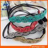 Latest style fancy elastic handmade beaded fashion indian accessories headband