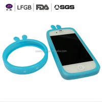 universal glowing ring case silicon bumper case , silicone phone case for any cellphone