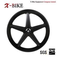 2014 XBIKE new Toray 1000 full carbon 700c road &track tubular 5 spoke fixed gear wheel