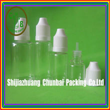 5-30ml pet plastic eye dropper bottles with childproof cap blind braille mark Language Option French