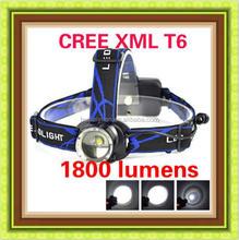 CREE XM-L T6 LED 1800lm headlamp /cree led headlamp flashlight /2015 new T6 headlamp wholesale