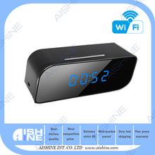Product 2015 desk alarm clock home hidden camera wifi night vision cams