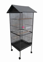 China OEM Top Roof Metal Large Bird Cage, Parrot Cage