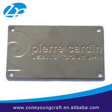 high quality engraved metal brand logo tag for wallet