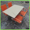 Superficie sólida de acrílico restaurante de comida rápida de mesa y una silla, pedestal de mesa de comedor