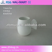 personalized fine porcelain mug with angel wings handle