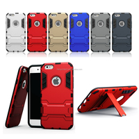 Dual Layer Slim Armor Rubber kickstand Hybrid Grip Capa Hard PC+ TPU Cover Case for iPhone5/6/6plus/6s/6s plus