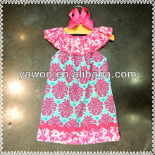 new design baby girls cotton floral casual dress knee length lovely girl's dress for baby summer beach wear dress child clothing