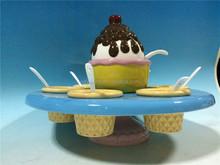 Hand painted ceramic chocolate ice cream bowl