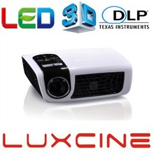 New LUXCINE C5D Home Theater DLP LED MINI Projector 1080P Support 2D-3D 500 Lumens Protable