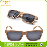 Natural wooden custom logo bamboo sunglasses with polarized lenses wholesale sunglasses China facory