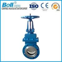 BS EN CS steel flange RF knife gate valve