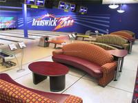 fashion desigh bowling center with second hand Brunswick bowling equipment