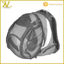 China cheap wholesale football bags, One strap mesh basketball football club bags