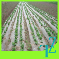 High quality LDPE white and black plastic mulch film for agriculture