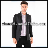 2016 Spring and Autumn new men's European and American male models sequined wood American male models sequined wool woolen coat