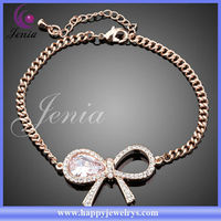 2013 Latest Design Beautiful Cute Bracelet With Austrian Crystal With 18k Gold Plated New Gold Bracelet Models(Lh015)