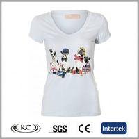 popular uk high quality print 100% cotton printed women fashion t-shirts 2013