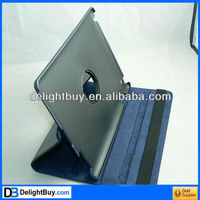 360 degree rotating leather case cover with stand for ipad 2