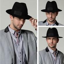 Fashion Unisex Headwear Men Women Winter Wool Fedora Hat Trilby Crown Cap Wide Brim Bowler Derby Floppy Bucket Hat
